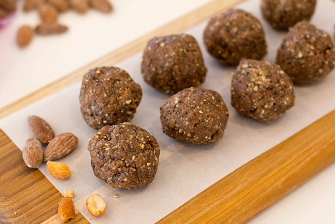 Chocolate fudge power balls