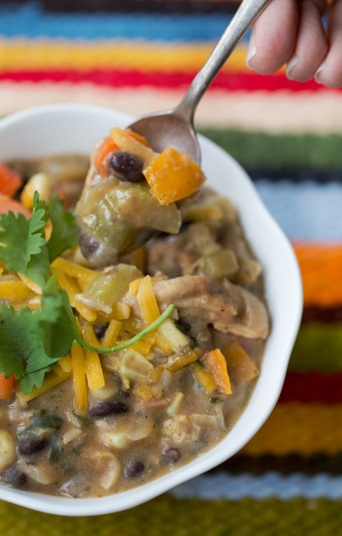 One-Pot Turkey Chili is the perfect recipe for your leftover turkey meat. It combines turkey, veggies and southwestern spices into a hearty, healthy soup.