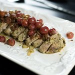 Roasted Pork Tenderloin with Grape Chutney
