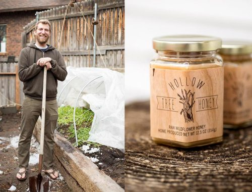 Honey Bees and Tunnel Gardens - Learn how you can grow fresh vegetables throughout the cold winter and eat fresh, raw honey all year long!
