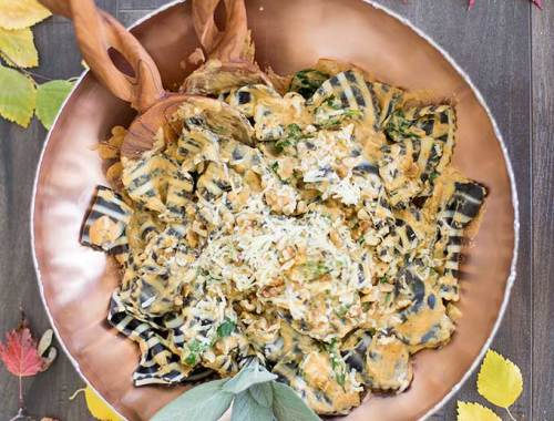 Creamy Pumpkin Pasta Sauce - half-and-half, pumpkin puree and a myriad of spices come together in this creamy pasta sauce recipe.