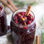Cranberry Wassail: Apple, pear and orange infused with cinnamon and cloves turns cranberry juice into the perfect festive holiday drink!