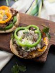 Philly Cheesesteak Pita Pizzas