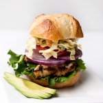 Grilled Chicken Sandwich with Spicy Coleslaw