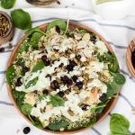 Chicken Couscous Salad with Basil Dressing