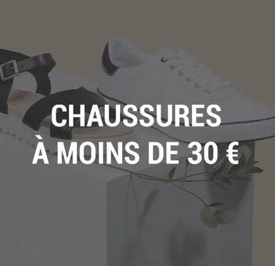 Chaussures a moins de 30 euros
