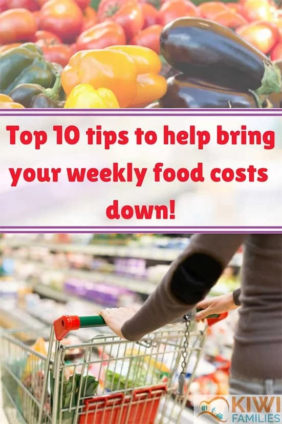 Top 10 tips to help bring your weekly food coasts down
