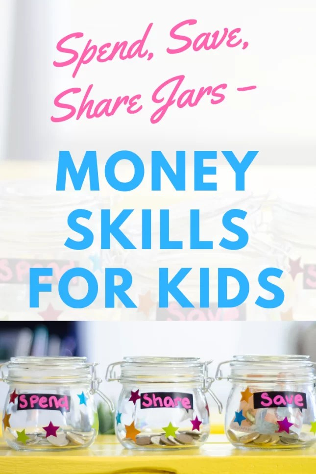 Spend, Save, Share Jars – Money Skills for Kids