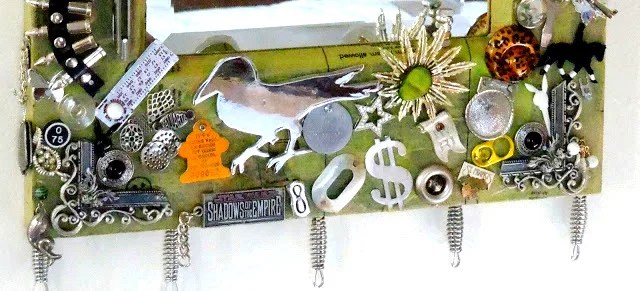 cool craft ideas for teenagers-upcycled junk mirror