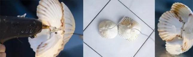 Stem of shell flowers
