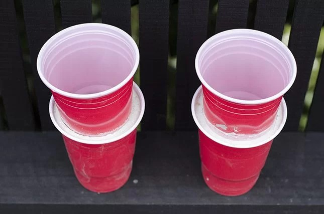how to make a concrete pot cups