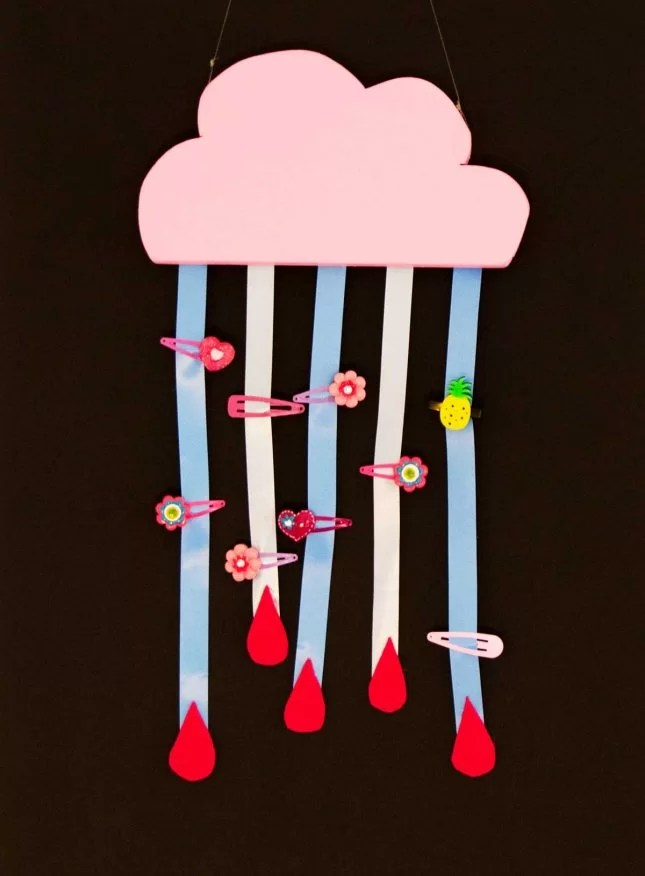 DIY-cloud-hair-clip-holder