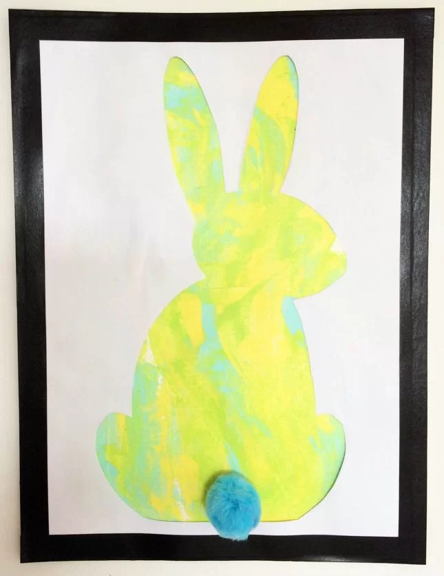 Easter bunny silhouette craft