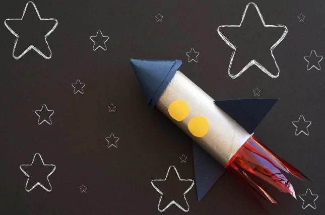 How to make a toilet roll rocket ship