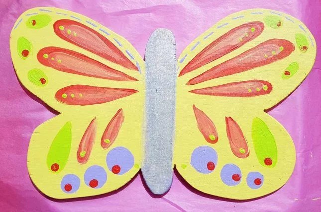 butterfly project painted