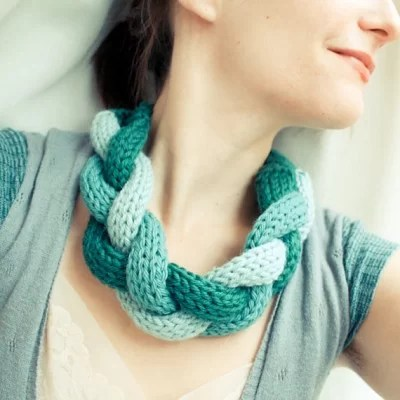 French knitted necklace-Kiwi Families