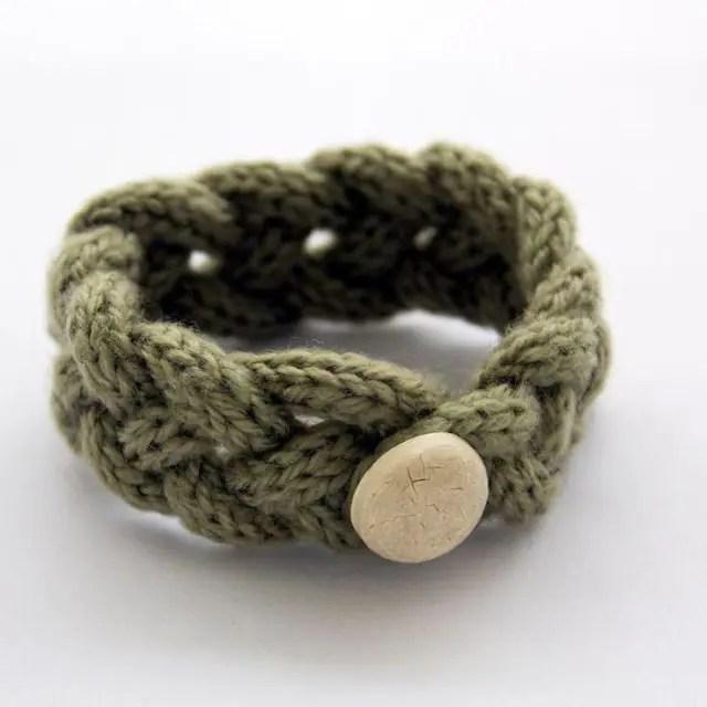 french knitted friendship bracelet-Kiwi Families
