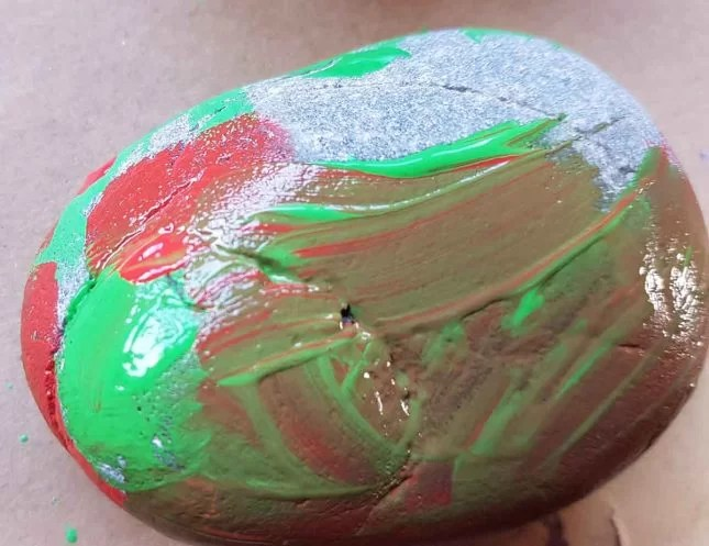 How to make Painted stones - Fruit characters brown