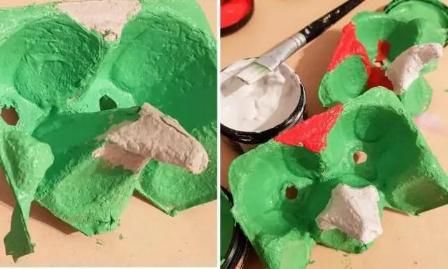 Kākāriki mask paint