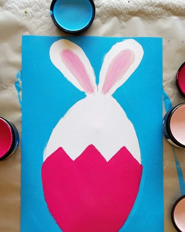 How to Draw an Easter Bunny in an Egg 11