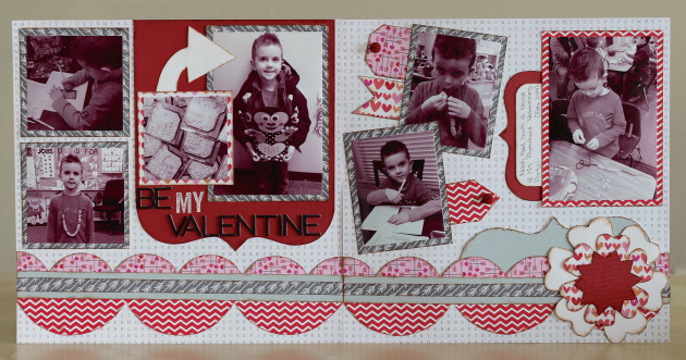Be My Valentine 2-page layout