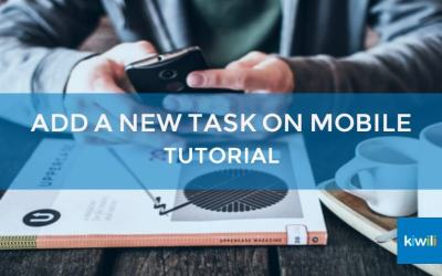 Add a New Task on Mobile with Kiwili