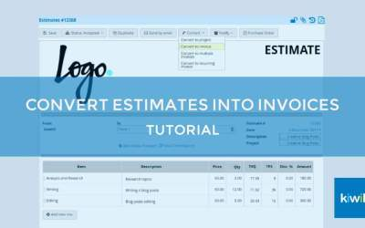 Easily Convert an Estimate into an Invoice in Kiwili