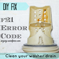 Fix the F21 Error Code- Unclog the Washer Drain