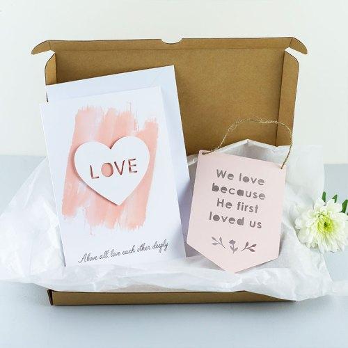 Love Card and Mini Flag Gift Set