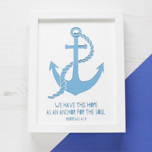 Anchor Bible Verse Paper Cut