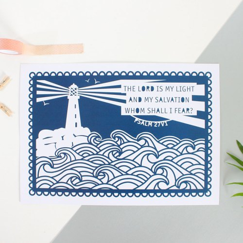 Lighthouse The Lord Is My Light Print