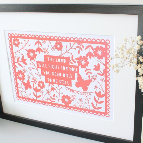 Floral the Lord will fight Print