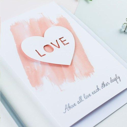 Love Heart 3D Paper Cut Card