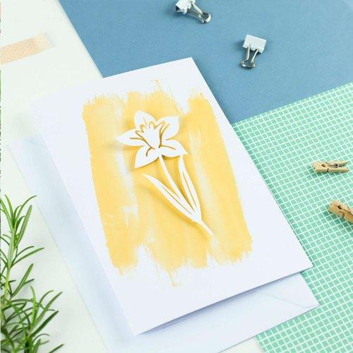 3D Daffodil card
