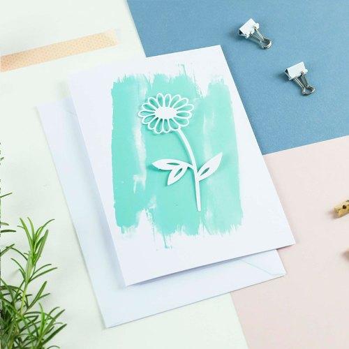 3D Daisy card