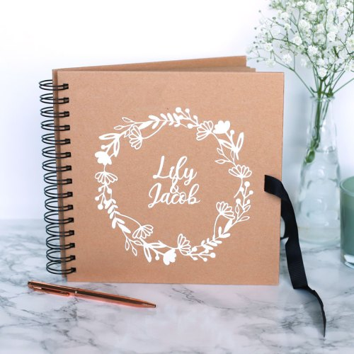 Personalised Couple's Floral Wedding Guestbook