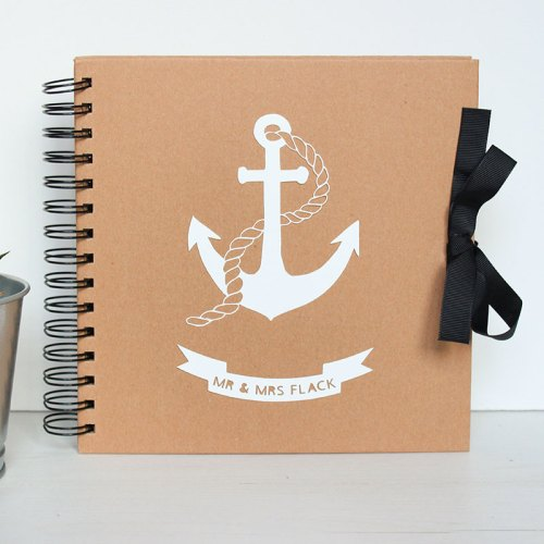 Personalised Couple's Anchor Guestbook