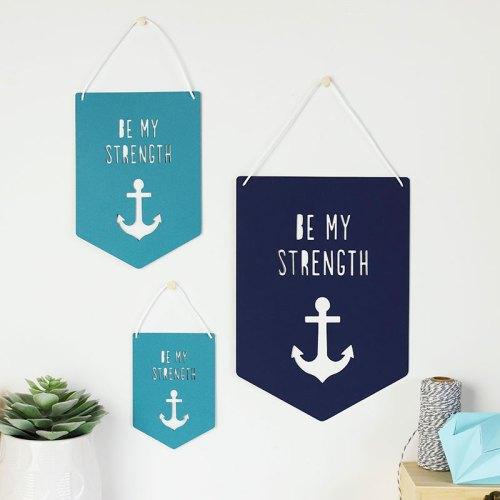 Be My Strength Papercut Flag