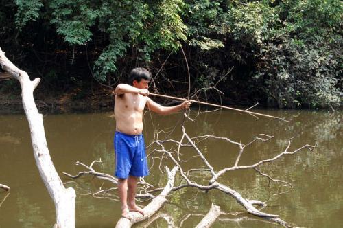 Mike beim Fisch-Jagen