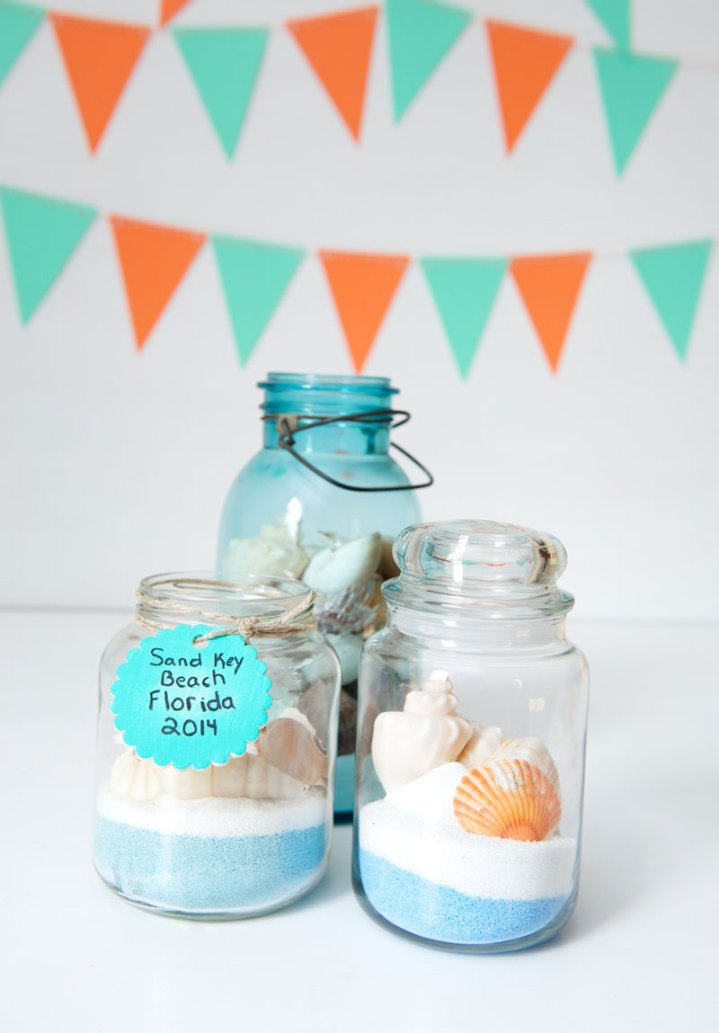 crafts for kids with paper, easy DIY craft ideas for kids, easy paper crafts for kids, DIY craft ideas Kids beach memory jars easy DIY craft ideas for kids