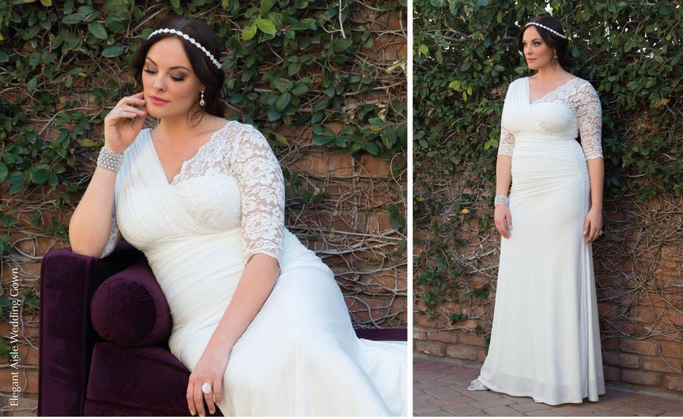 Unique Plus Size wedding gown   Elegant Aisle Wedding Gown