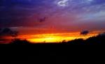 茅野の夕焼け(iPhoneアプリで加工済)