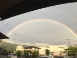 ワイドレンズを使用して撮った虹