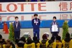 女子500m1回目 表彰式