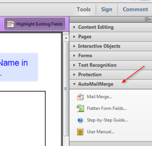 Adobe with AutoMailMerge - Adobe with AutoMailMerge