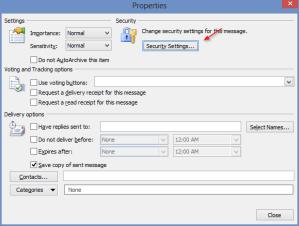 kjc Digital Sign in Outlook Security Settings - kjc - Digital Sign in Outlook - Security Settings