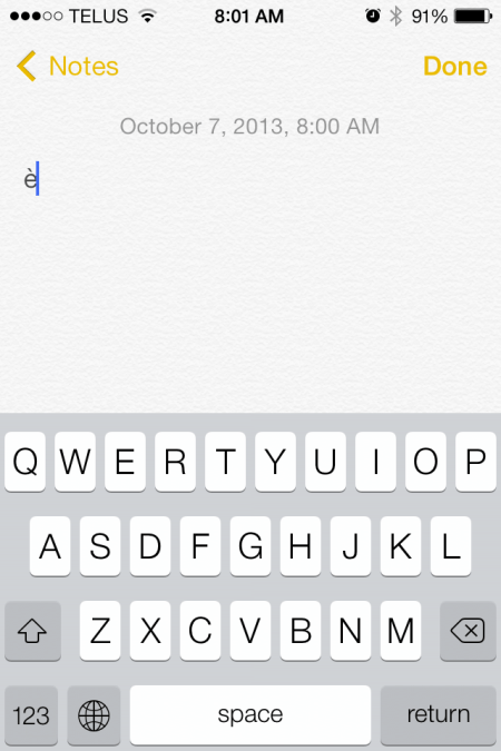 2013 10 07 08.01.49 - iOS 7 Tip - special character