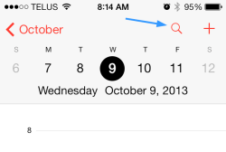 kjc iOS 7 Calendar 250x168 - iOS 7 Tip #16: How To List Calendar Items in List View