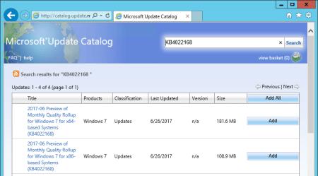WSUS Microsoft Update Catalog updates list - WSUS - Microsoft Update Catalog updates list