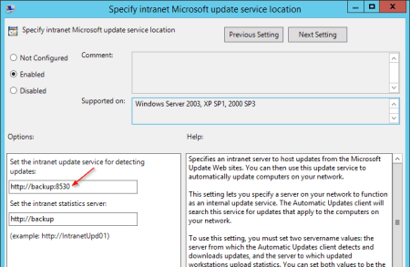 Group Policy Specify settings for optional component installation with port number - Group Policy - Specify settings for optional component installation with port number